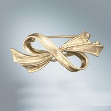 Bow Pin: Sterling Silver