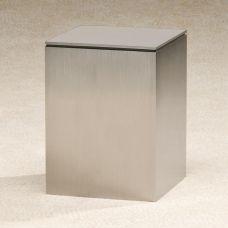 Brushed Metallic Cremation Urn
