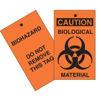 Caution Biological Material Tag