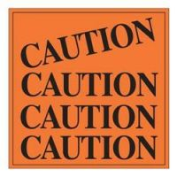 Caution Sign Adhesive Label