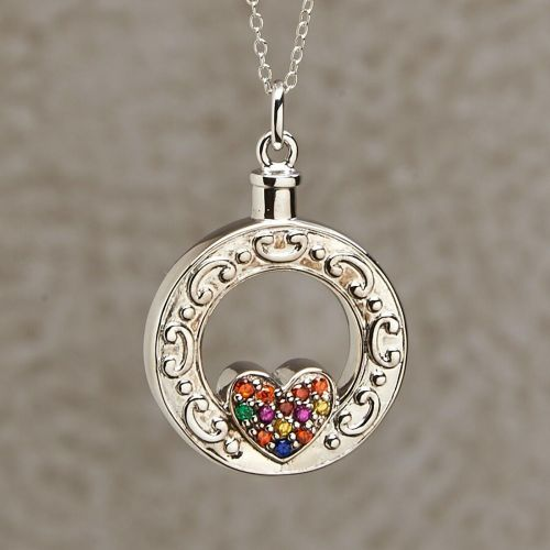 Celebration of Life Heart Keepsake Jewelry Pendant -  - 814108