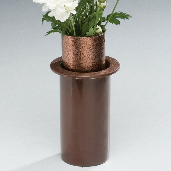 Cemetery Flower Vases Half \u0026 Ground Level - - 408312 ... & Cemetery Vases \u0026 Lights : Cemetery Flower Vases Half ...