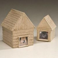 Ceramic Doghouse Cremation Urn