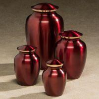 Classic Crimson Cremation Urn