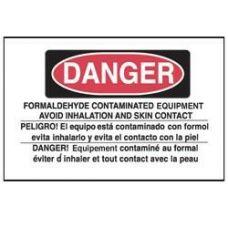 Danger Formaldehyde Equipment Adhesive Label