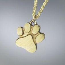 Dog's Paw Print Keepsake Cremation Pendant