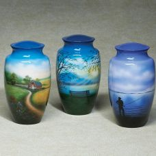 Favorite Places Hand-painted brass Cremation Urn