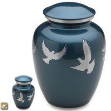 Flying Doves Cremation Urn