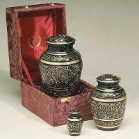 Gee Motif Brass Cremation Urn