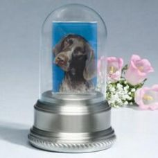 Glass Dome on Pewter Base Cremation Urn