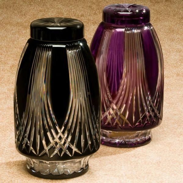 Urns Gothic Black Cremation Urn Bohemian Glass