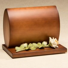 Harmonious Wood Cremation Urn Smooth Satin Finish