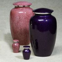 Imperial Aluminum with a pink enameled finish Cremation Urn