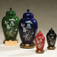 Irises Ceramic Cremation Urn Applique