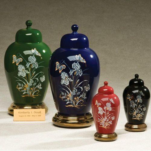 Irises Ceramic Cremation Urn Applique -  - 530611