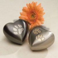 Keepsake Paw Print Heart Cremation Urn