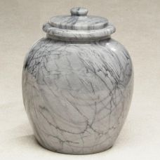 Legacy Grey Marble Cremation Urn Top-opening lid 205 cu. in.
