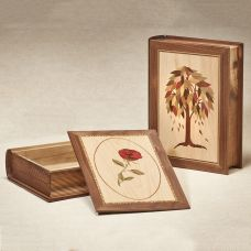 Marquetry Book Cremation Urn