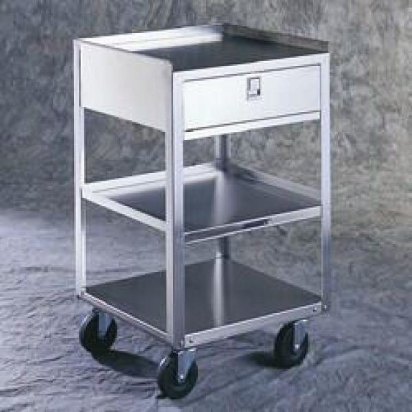 Mortuary Equipment Stand One Drawer