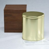 Mortuary Round Metal Temporary Container