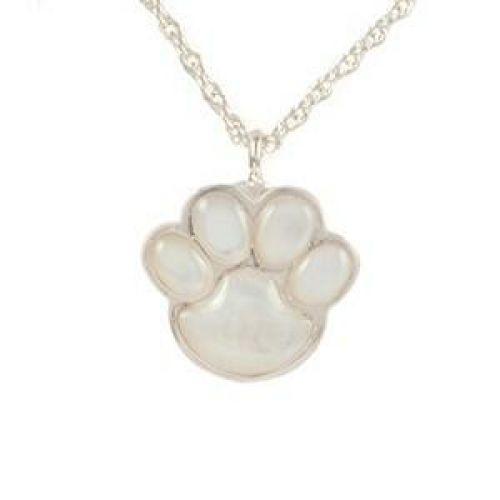 Mother of Pearl Paw Print Keepsake Jewelry Pendant -  - 887004
