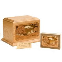 Oak Country Lane Cremation Urn