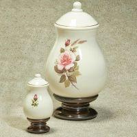 Pink Rose Cremation Urn