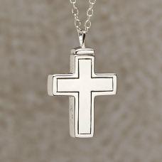 Plain Cross Keepsake Cremation Pendant Includes 18in. Chain