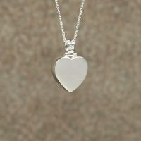Plain Heart Keepsake Cremation Pendant