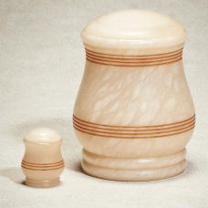 Prosperity Alabaster Stone Cremation Urn
