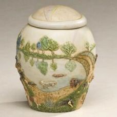 Rainbow Bridge Scene Cremation Urn