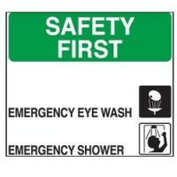 Safety First Adhesive Label