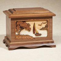 Sailboat: Oak Cremation Urn