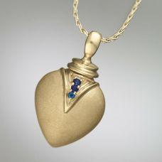 Sapphire Teardrop 14k Gold Keepsake Jewelry Pendant