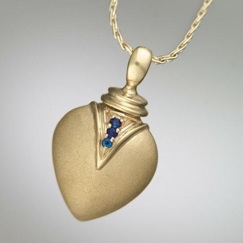 Sapphire Teardrop 14k Gold Keepsake Jewelry Pendant -  - 569992