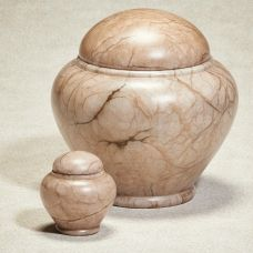 Seaside Alabaster Stone Cremation Urn