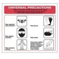Universal Precaution Adhesive Label
