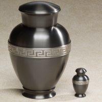 Zeus Brass Top-Opening Threaded Lid Cremation Urn
