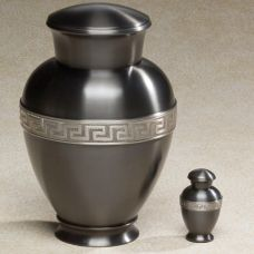 Zeus Brass Top-Opening Threaded Lid Cremation Urn