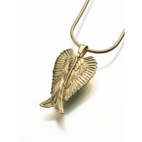 Angel Wings Pendant/Necklace Engravable Cremation Urn Jewelry -  - 185GV
