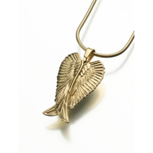 Angel Wing Urn Necklace: Cremation Jewelry : Angel Wings Pendant/Necklace