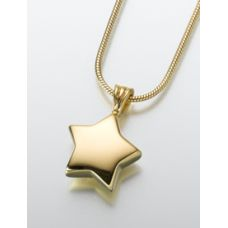 Star Pendant/Necklace Engravable Ashes Cremation Urn Jewelry