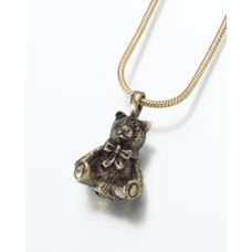 Teddy Bear Pendant/Necklace Holds Ashes Cremation Urn Jewelry