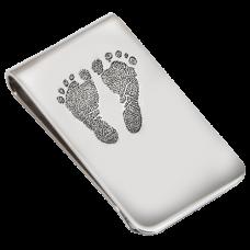 2 Baby Feet Footprints Money Clip