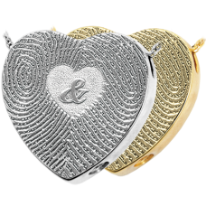 3D Duo Fingerprints Ampersand Keepsake Jewelry