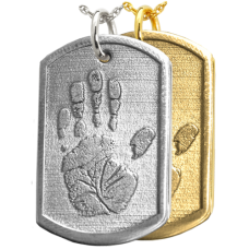 3D Handprint Dog Tag Keepsake Jewelry
