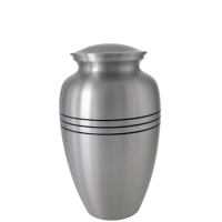 "Cremation Urns: 6"" Traditional Pewter Sharing Urn"