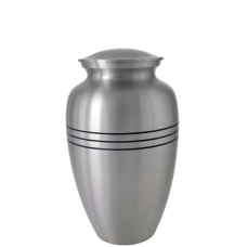 """Cremation Urns: 6"""" Traditional Pewter Sharing Urn"""