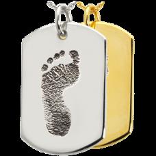B&B Dog Tag Footprint Jewelry