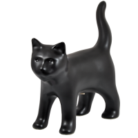 Black Kitty Figurine Urn
